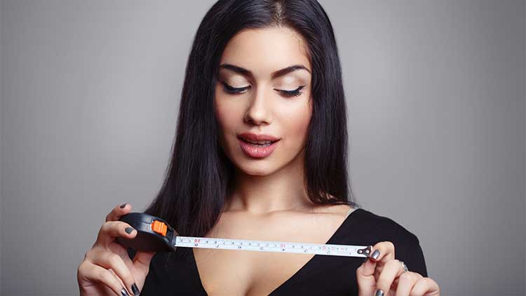 Woman with a measuring tape