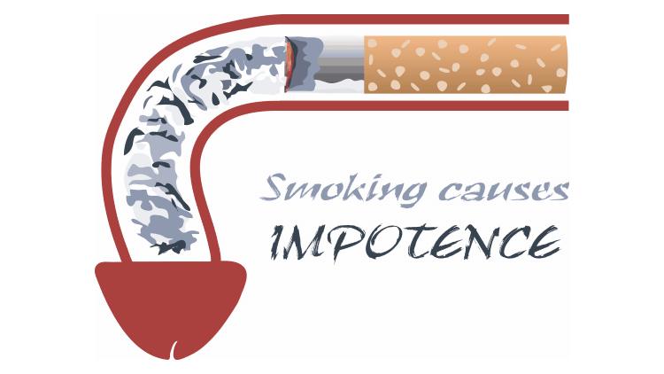 Smoking causes impotence illustration
